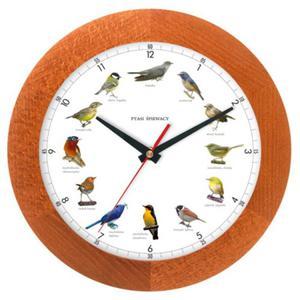 Zegar głosy ptaków drewniany solid #1A - 2827615289