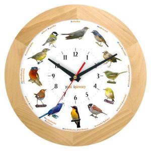 Zegar głosy ptaków drewniany solid #1B - 2827615291