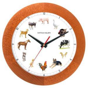 Zegar drewniany z głosami zwierząt #2 - 2827615292