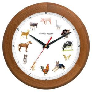 Zegar drewniany z głosami zwierząt #4 - 2827615296