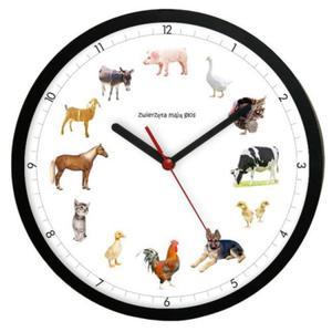 Zegar ścienny solid z głosami 12 zwierząt #2 - 2827615098