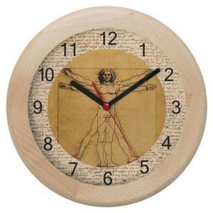 Zegar drewniany rondo Leonardo - 2827615312