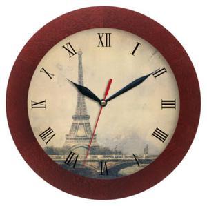 Zegar drewniany solid Wieża Eiffla - 2827615314