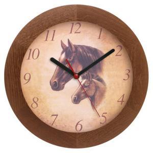 Zegar drewniany solid Koniki - 2827615315