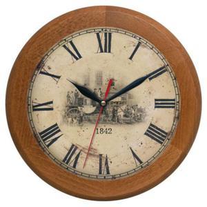 Zegar drewniany rondo Dyliżans - 2827615317