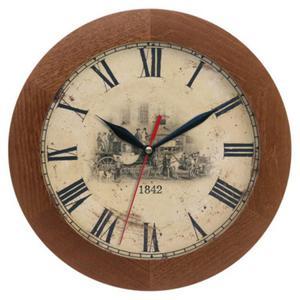 Zegar drewniany solid Dyliżans - 2827615318