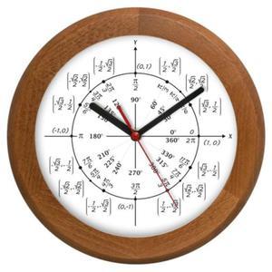Zegar drewniany rondo geometria - 2827615320