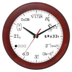 Zegar drewniany rondo matma 10 - 2827615321