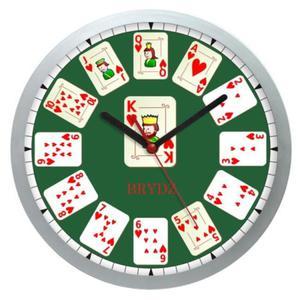 Zegar naścienny sport Czas na Brydża #1 - 2827615101