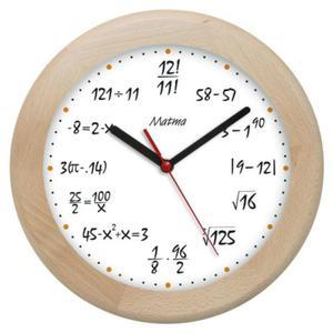 Zegar drewniany rondo matma 8 - 2827615326