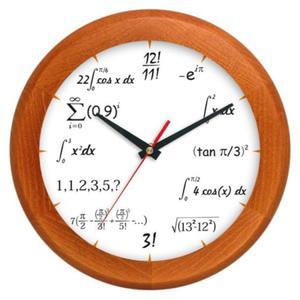 Zegar drewniany rondo matma 7 - 2827615327