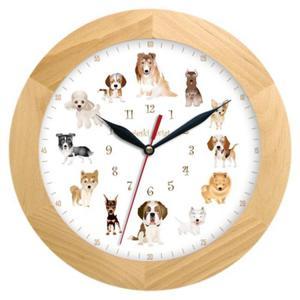 Zegar drewniany solid Pieski Świat #2 - 2827615333