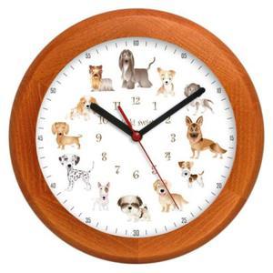Zegar drewniany rondo Pieski Świat #1 - 2827615334