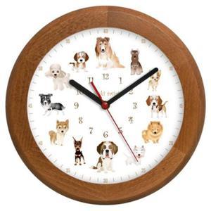 Zegar drewniany rondo Pieski Świat #2 - 2827615335