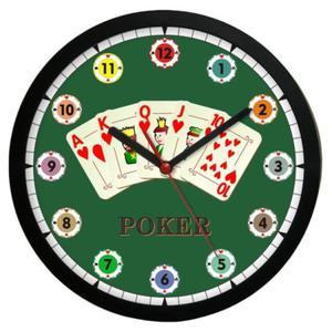 Zegar naścienny sport Czas na Pokera - 2827615102