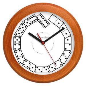 Zegar drewniany rondo Kostki Domina - 2827615339