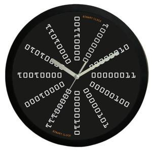 Zegar naścienny #4B z zapisem Binarnym - 2827615368