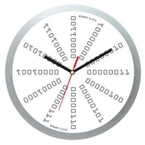 Zegar naścienny #4W z zapisem Binarnym - 2827615369
