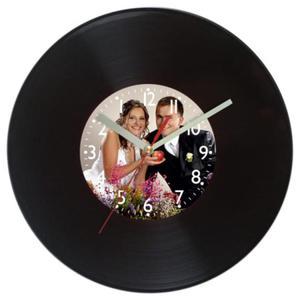 Zegar z autorską tarczą płyta grająca - 2827615378