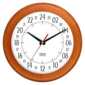Zegar 24-godzinny drewniany round #1 - 2827615383