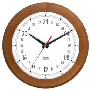 Zegar 24-godzinny drewniany round #2 - 2827615384