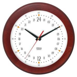 Zegar 24-godzinny drewniany round #3 - 2827615385