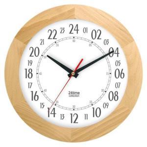 Zegar 24-godzinny drewniany solid #1 - 2827615386