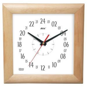 Zegar 24-godzinny drewniany kwadratowy - 2827615391