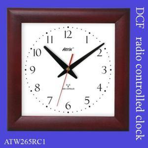 Zegar drewniany sterowany radiowo #2 - 2827615405
