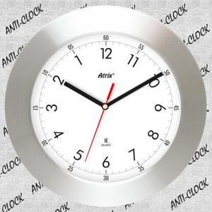 Anty zegar z aluminiową ramką WIDE #1 - 2827615409