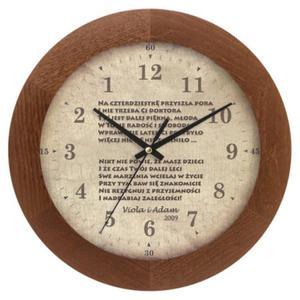AntyZegar z autorską tarczą drewno solid - 2827615414