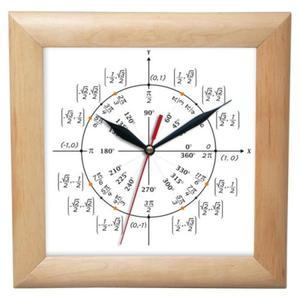 Zegar drewniany kwadrat Geometria - 2827615421