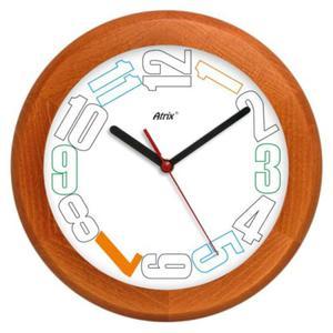 Zegar drewniany Round leniwe godziny - 2827615440