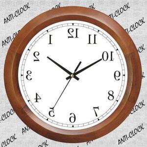 Anty zegar z ciemnego drewna #O2 - 2827615077