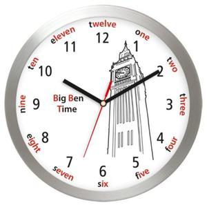 Zegar ścienny aluminiowy Londyński Big Ben - 2827615444