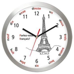 Zegar ścienny aluminiowy Wieża Eiffla - 2827615445