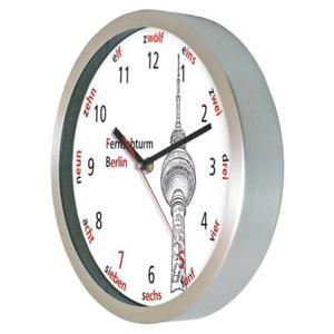 Zegar ścienny aluminiowy Berlińska Wieża TV - 2827615446