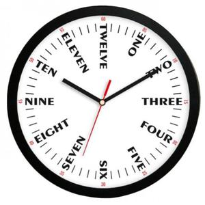 Zegar naścienny języki świata solid - 2827615450