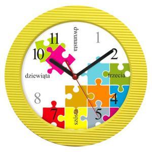 Zegar naścienny falisty Puzzle - 2827615453