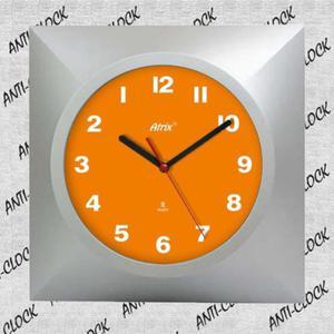 Zegar chodzący do tyłu kwadrat - 2827615459