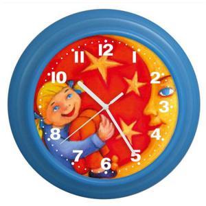 Zegar ścienny kolory dziewczynka z księżycem - 2827615464
