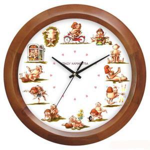 Zegar drewniany Crazy Kamasutra - 2827615116