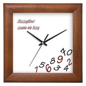 Zegar drewniany kwadratowy WHATEVER - 2827615118