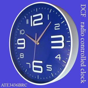 Zegar ALFA sterowany radiowo /niebieski - 2827615492