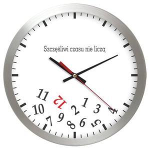 Zegar alu SZCZĘŚLIWI CZASU NIE LICZĄ - 2827615130