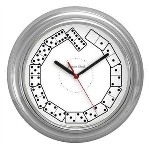Zegar chromowany sport Kostki Domina - 2827615149