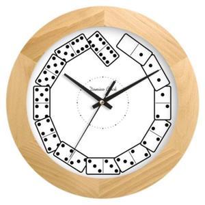 Zegar drewniany solid Kostki Domina - 2827615150