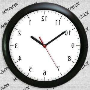 Anty zegar z czarną ramką z połyskiem - 2827615081