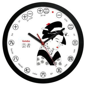 Zegar ścienny Japan Gejsza #1 - 2827615156