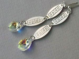 Elegant Swarovski Long -Crystal AB - 2861145032